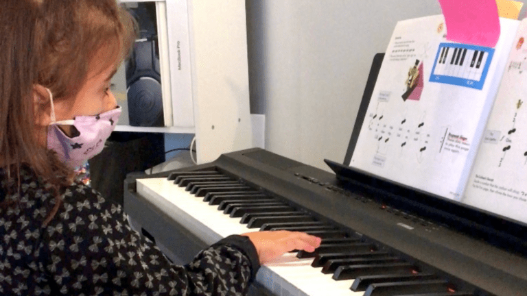 Meet our student Sonoma, our young piano student
